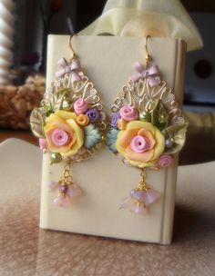 Serena Di Mercione Creation  Polymery Clay Earrings