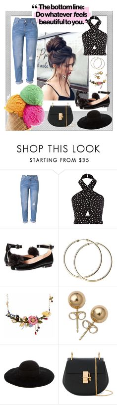 """""""Ice Cream in New York"""" by mcadamsa on Polyvore featuring Polaroid, WithChic, Boutique Moschino, Les Néréides, Bling Jewelry, Eugenia Kim, Chloé, icecream and iheartny"""
