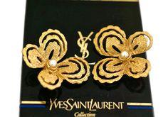 Vintage YVES SAINT LAURENT Butterfly Earrings by Robert