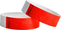 3/4 Duplicate Numbered Tyvek Wristbands