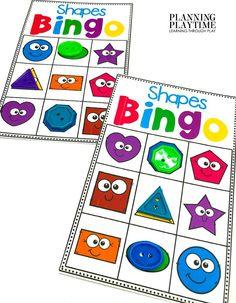 Can you get a Shape BINGO?!? - Kindergarten Morning Tubs