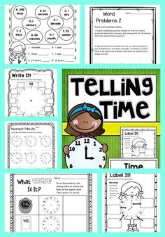 Print and go time activities! Saves me so much work! $