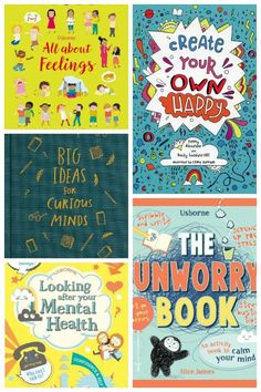 Books about Body-confidence, empathy & mental health! If you want to help your children develop their emotional intelligence, increase self confidence and navigate their way through social media, these books are just the thing for you! Calming Activities, Health Activities, Art Activities For Kids, Book Activities, Emotional Regulation, Emotional Development, Kids Mental Health, Children Health