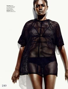 Zuri Tibby Dons Bold Swimwear Looks for ELLE UK by Marcus Ohlsson