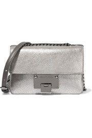 Jimmy ChooRebel mini metallic textured-leather shoulder bag
