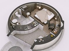 Dome House Interior Designs for Geodesic Dome Homes Round House Plans, Small House Plans, House Floor Plans, Home Room Design, Small House Design, Home Interior Design, Monolithic Dome Homes, Geodesic Dome Homes, Container Home Designs