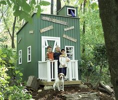 clubhouse for the boys - need something like this for my girl...  wonder if i can find a cheap wooden shed to convert?!?