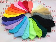 2015 Women's socks solid color love candy color dot sock women's thin sock slippers.mix colors.24pcs=12pairs/lot,free shipping