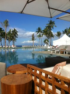 Dreamy beach and pool cabana at Andaz Maui in Wailea