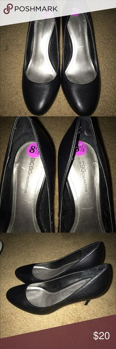 BCBG black shoes 👠 used twice BCBG used twice black shoes 👠 no holes or scratches but o not dirty in bottom . BCBG Shoes Heels