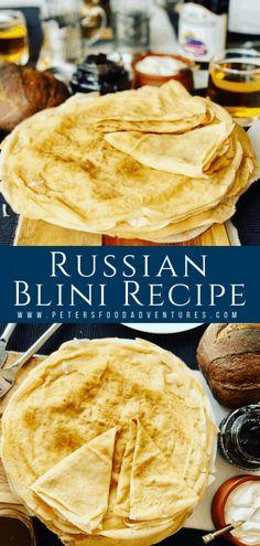 Crepe Recipes, Brunch Recipes, Breakfast Recipes, Ukrainian Recipes, Russian Recipes, Ukrainian Food, Russian Breakfast, Pancake, Deserts