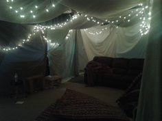Blanket fort room.