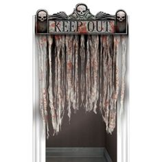 Bloody Doorway Curtain - Fangtastic Party - Party Tableware - Halloween