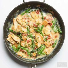 Cauliflower-Sauced Chicken Skillet
