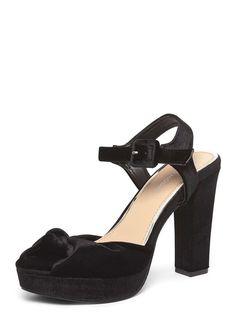 Womens **Vero Moda Black 'Dublin' Platform Sandals- Black