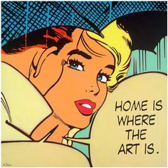 Drawing Comics Alan Delon : Brand New Pop Art Limited Edition, available from Tusk Gallery Roy Lichtenstein Pop Art, Vintage Cartoons, Vintage Comics, Andy Warhol, Cuadros Pop Art, Richard Hamilton, Comic Style, Retro Kunst, Tv Movie