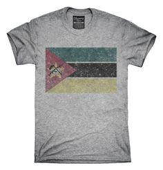 Retro Vintage Mozambique Flag T-Shirts, Hoodies, Tank Tops