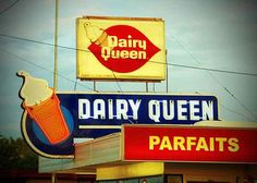 The Dairy Queen on Main St. in Mesa has been there as long as I can remember. It is an old-style walk-up. When asked what he wanted to do on his last night at home before he left for his mission for 2.5 years, my brother asked if he could have one more banana split at the old Dairy Queen. I ate my parfait that night with a big lump in my throat!