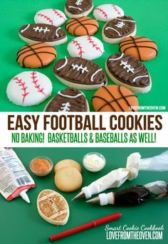 Easy Football Cookies!  These are so easy you could whip them up during the pre-game show before the big game!