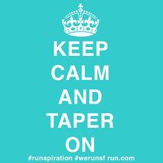 Runspiration Keep Calm Taper On Run.com