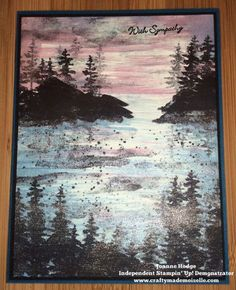 Stampin' Up! Waterfront, Wink of Sella, Stampin Up Waterfront landscape
