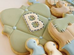 Baby Shower Cookies - 4 large and 8 mini Orange Vanilla Spice Cookies. $72.00, via Etsy.