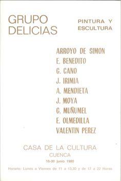 """Exposición de pintura y escultura del """"Grupo Delicias"""" en la Casa de Cultura de Cuenca Junio 1980 #CasaCulturaCuenca #GrupoDelicias"""