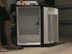 Showing how to bend the freezer tray in a GE mini fridge so that we can fit a keg inside. Nitro Cold Brew, Mini Fridge, Bending, Freezer, Tray, Youtube, Cool Mini Fridge, Chest Freezer, Trays