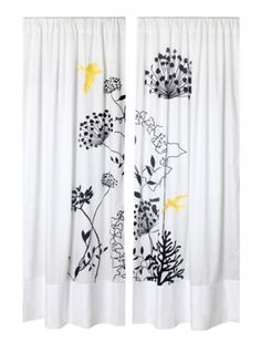 Black White & Yellow Curtains