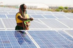 India's prime minister urged global companies on Wednesday to make the sun-baked South Asian nation a solar energy hub