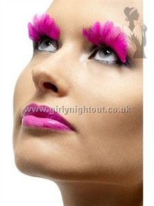 Bat your eyelashes and catch the eyes of many with these Neon Feather Eyelashes. The eyelashes feature bright pink, green and yellow feathers made of nylon Feather Eyelashes, Fake Eyelashes, False Lashes, Coloured Feathers, Pink Feathers, Maquillage Halloween, Halloween Face Makeup, Beautiful Eyelashes, Beautiful Eyes