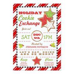 Holiday Christmas Cookie Exchange Invitation