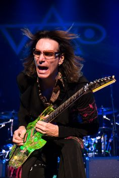 Steve Vai - Sweet guitar, man.  You should probably invest in a ED custom guitar so you don't wear it out.