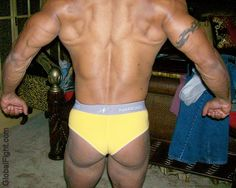 a muscle butt huge man
