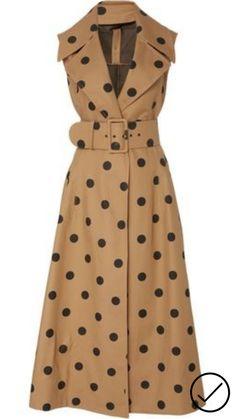 Polka Dot Cotton Midi Dress by Oscar de la Renta Day Dresses, Dress Outfits, Casual Dresses, Fashion Outfits, Womens Fashion, Winter Dresses, Prom Dresses, Dress Fashion, Dresses Online