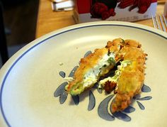 Stuffed and Fried Squash Blossoms