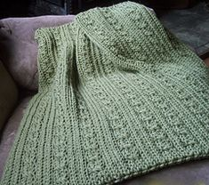 Loom Knit Cables and Ribs Baby Blanket