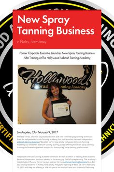 New Spray Tanning Business - in Nutley, New Jersey by Simone Emmons Airbrush Tanning, New Jersey, Hollywood, News, Business, Store, Business Illustration