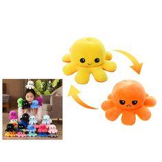 Plüss kifordítható polip vidám/mérges Octopus, Tweety, Pikachu, Plush, Lily, Fictional Characters, Art, Art Background, Kunst