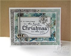 Handmade Christmas card by Marisa Ritzen using Christmas in the Air from Verve.  #vervestamps
