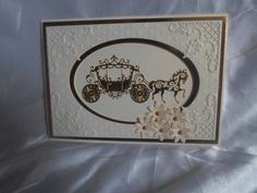 Angela Walker www.tatteredlace.co.uk Wedding Anniversary Cards, Wedding Cards, Wedding Day, Tattered Lace Cards, Scrapbook Cards, Scrapbooking, Horse Carriage, Die Cut Cards, Love Valentines