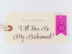 Will You Be My Bridesmaid? Will You Be My Maid Of Honor? Will You Be My Bridesmaid Card - Bridal Party Gift - Bridesmaid Gift