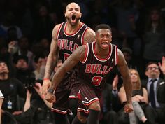Nate Robinson and Carlos Boozer respond as they should (Getty Images)