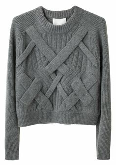 Cable sweater by Phillip Lim. Sweater Shop, Cable Knit Sweaters, Long Sweaters, Chunky Sweaters, Crewneck Sweaters, Knitwear Fashion, Knit Fashion, Sweater Fashion, Women's Fashion