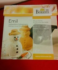 "new Birkmann Emil 6"" snowman baking cake mold German quality - winter/ Christmas"