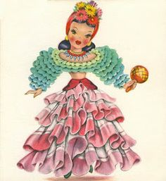 Tattered and Lost EPHEMERA: DOLLS OF MANY LANDS greeting cards
