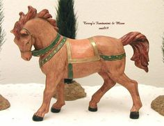 "FONTANINI DEPOSE ITALY RETIRED 5"" BROWN HORSE NATIVITY VILLAGE 72528 NEW NO BOX #Fontanini"