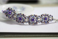 Violet Rose Crossweave Bracelet