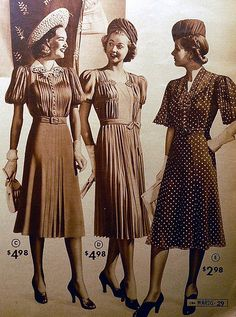 1940 Hats.  Save this look for 1940 - 1943