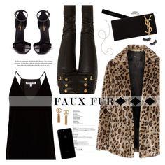 """Fuzzy Coats"" by mylkbar on Polyvore featuring Elizabeth and James, Yves Saint Laurent, Theory, Balmain, Gucci, Battington and fuzzycoats"